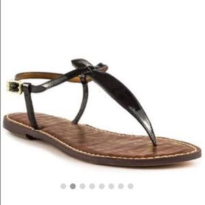 Sam Edelman Gigi patent leather black thong sandal